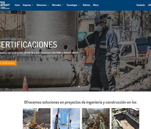 Sitio web de servicios -Pilotest Terratest